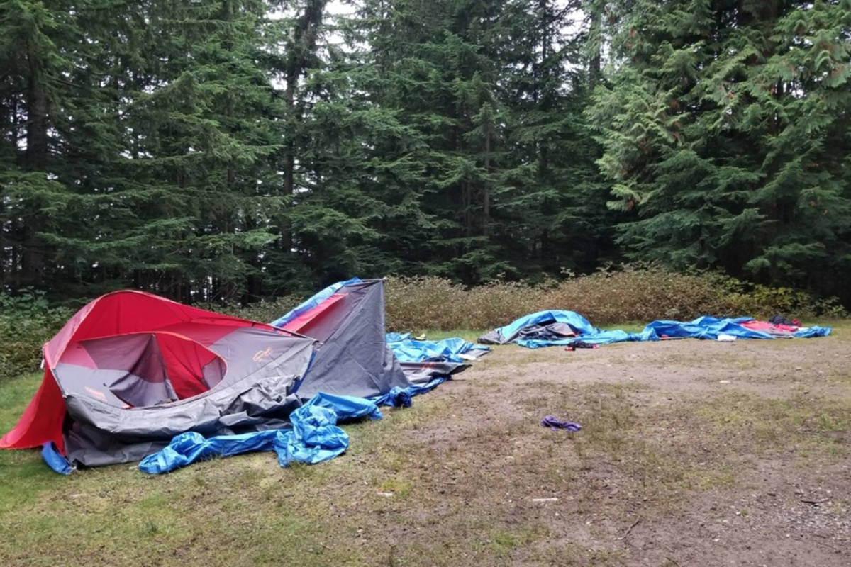 B.C. scouting group's tent destroyed by black bear on Thanksgiving