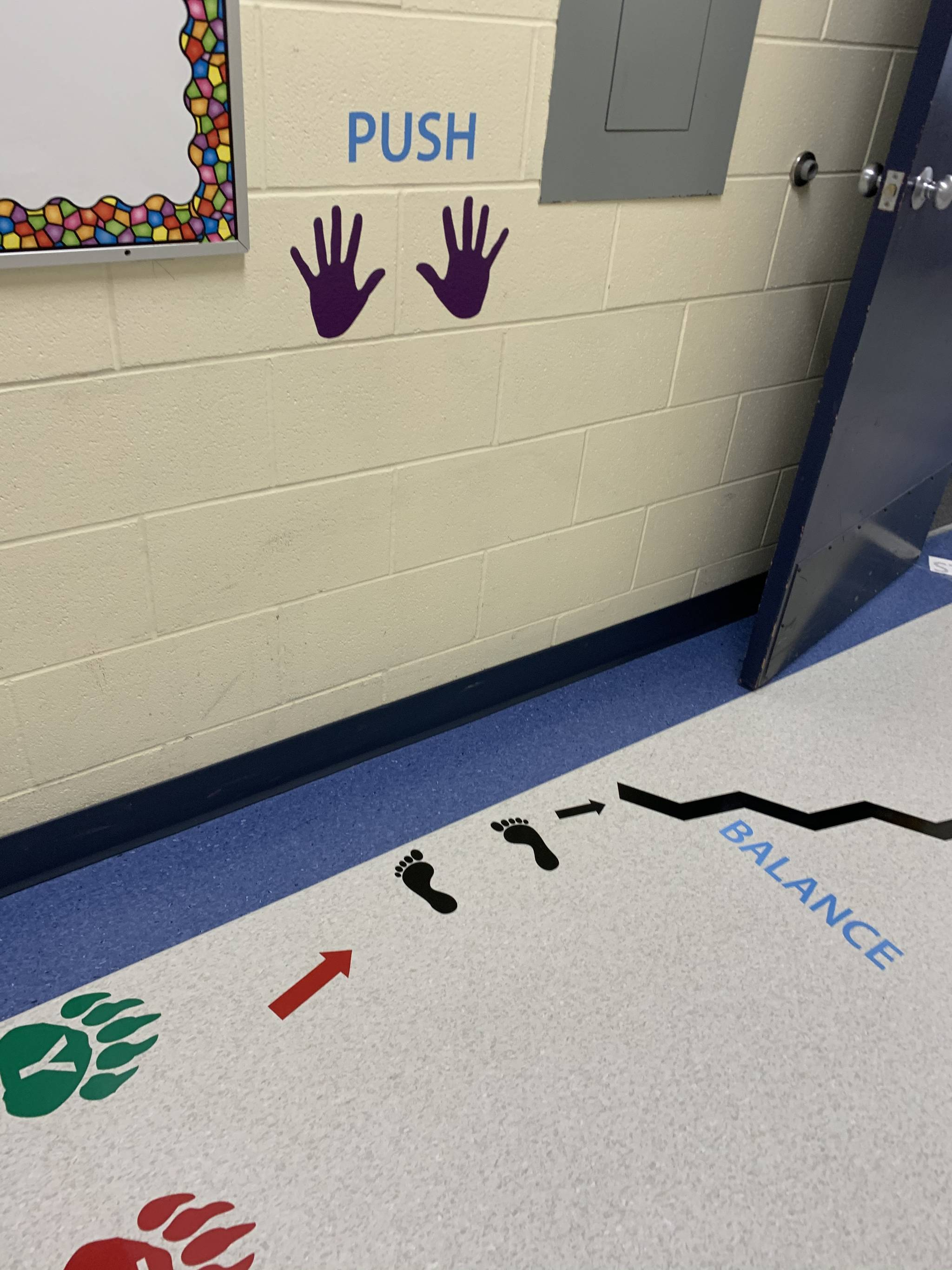 A Cranbrook mother is receiving praise across the world for her design of a sensory path aimed at helping kids in school when they need a movement break. (Chantal Marra file)